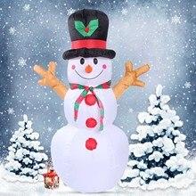 BEST1.6M altura Navidad inflable Santa muñeco de nieve con iluminación para interior al aire libre Navidad vacaciones Año nuevo Festival decoraciones U