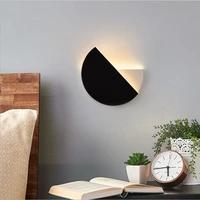 Sanmusion eclipse lunaire lampes murales salon decoration lampe a led decor a la maison mur lumieres 360 degres spin moderne ampoules declairage
