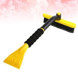Автомобильная лопата для снега, утолщенная металлическая щетка для снега, щетка для удаления мороза, скребок для ледяного ветрового стекла, скребок для удаления снега