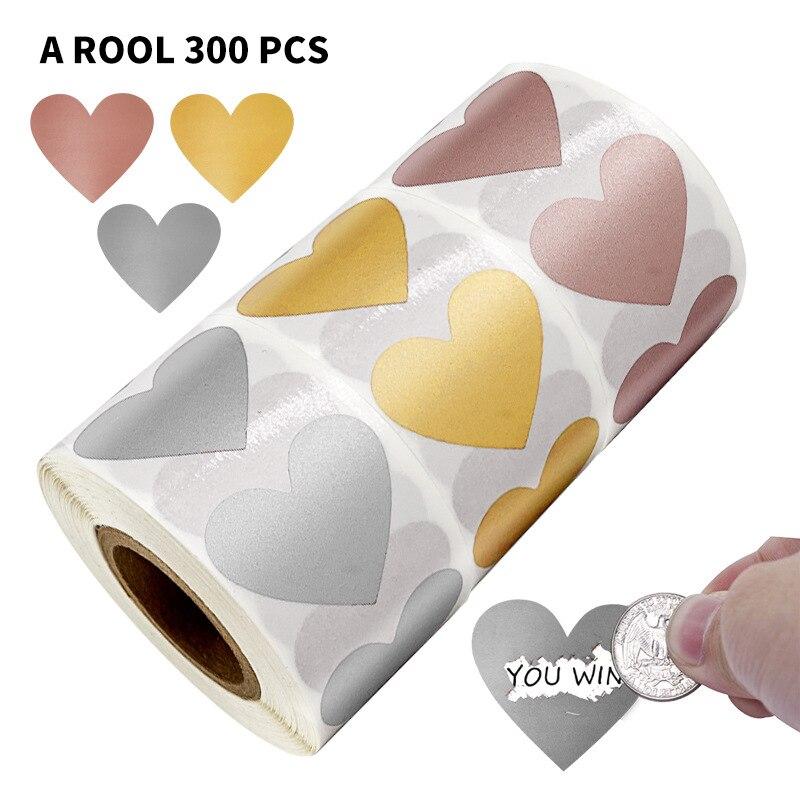 50-300pcs-3-colori-scratch-off-adesivi-a-forma-di-cuore-etichette-adesive-fai-da-te-fatti-a-mano-per-il-gioco-scratch-sticker-etichette-cartoleria