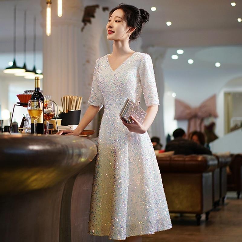 Evening Dress Prom Party Robe De Soiree Longue Formal Simple Robe De Soiree 2021 new cocktail dresses short