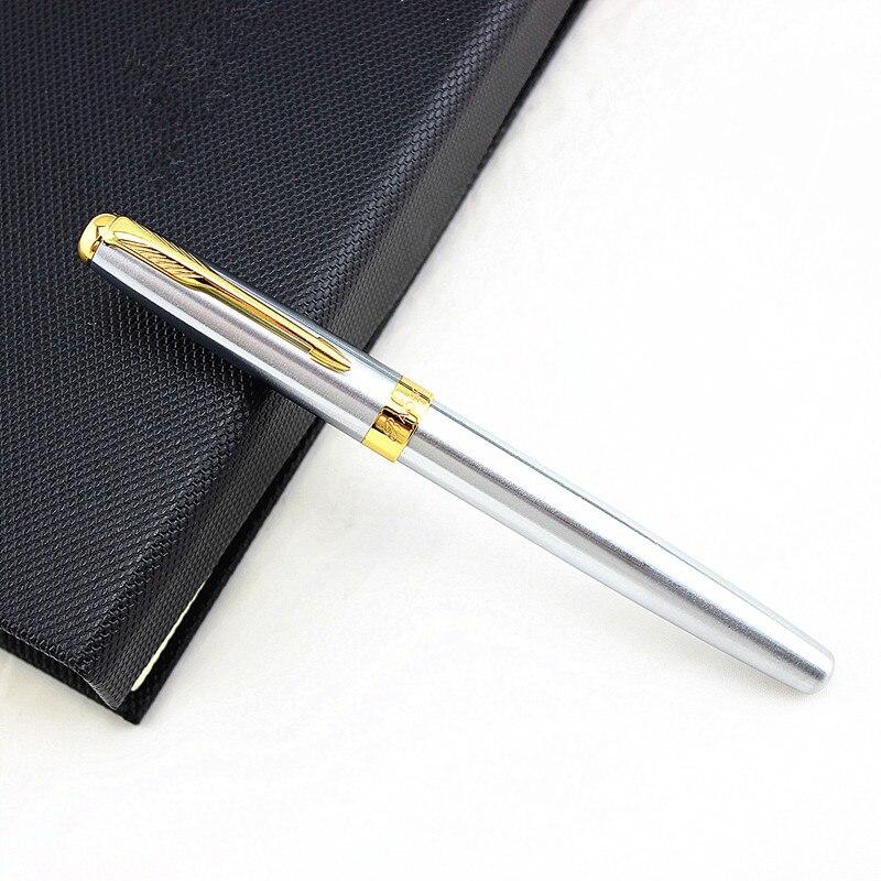 Baoer 388 Stahl Fude Kalligraphie Brunnen Stift Gebogen Nib, reinem Silber Farbe Schreiben Geschenk Stift für Malerei/Büro/Home