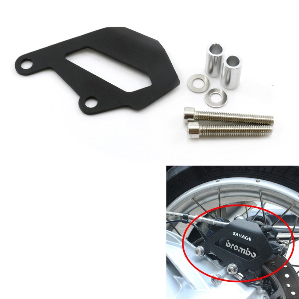 Para BMW R1200GS LC 14-17/R1200GS ADV 14-17/R1200R/RS LC 15-17/R1200RT 14-17, protector de cubierta de pinza de freno trasero de motocicleta