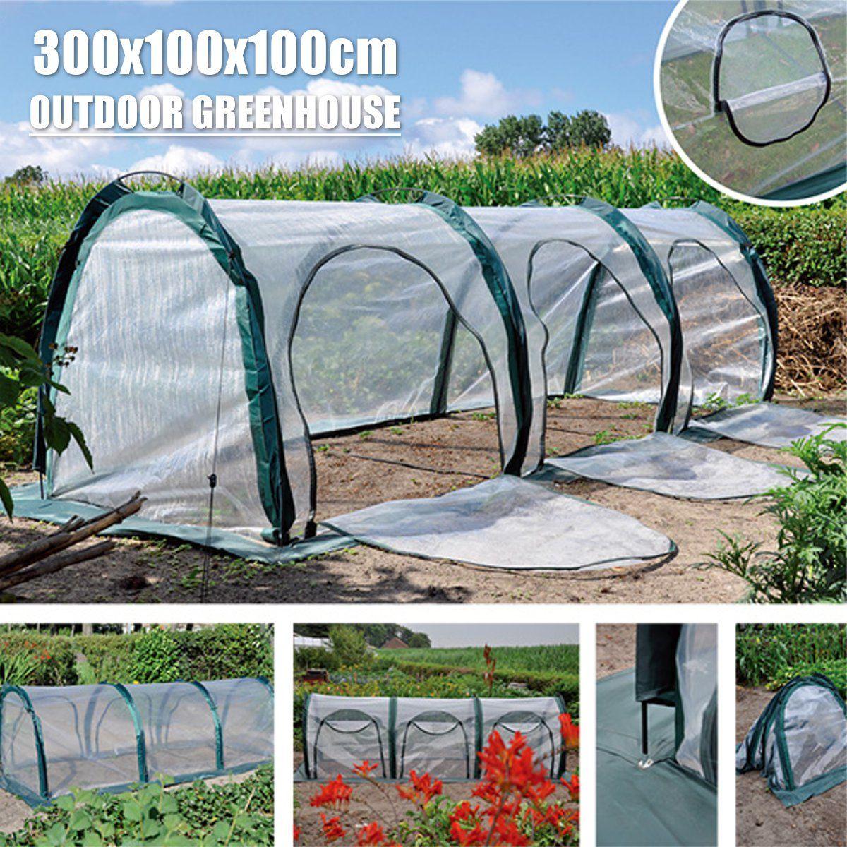 المنزل في الهواء الطلق صوبة صغيرة زهرة النبات البستنة الشتاء المأوى مقاوم للماء المضادة للأشعة فوق البنفسجية نفق الخضروات الدفيئة 300x100x100cm