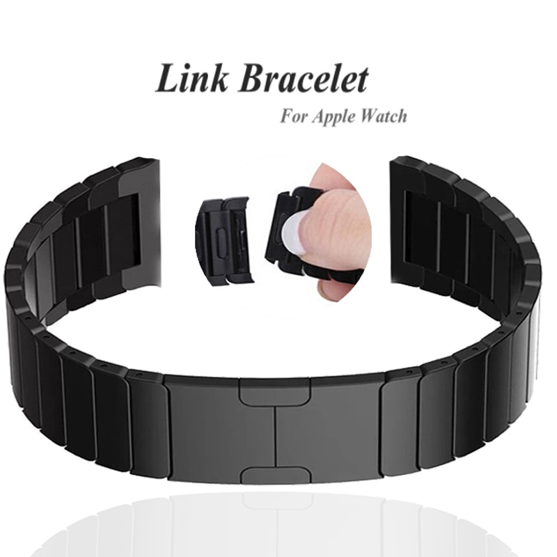 for watchband apple watch 42 mm 38 mm 44mm 40mm 4 3 2 1 band iwatch strap 316l link stainless steel link bracelet wrist belt Link bracelet for Apple Watch 6 SE 5 4 3 2 1 correa Iwatch band 38mm 42mm 316L stainless steel strap for apple watch 44mm 40mm