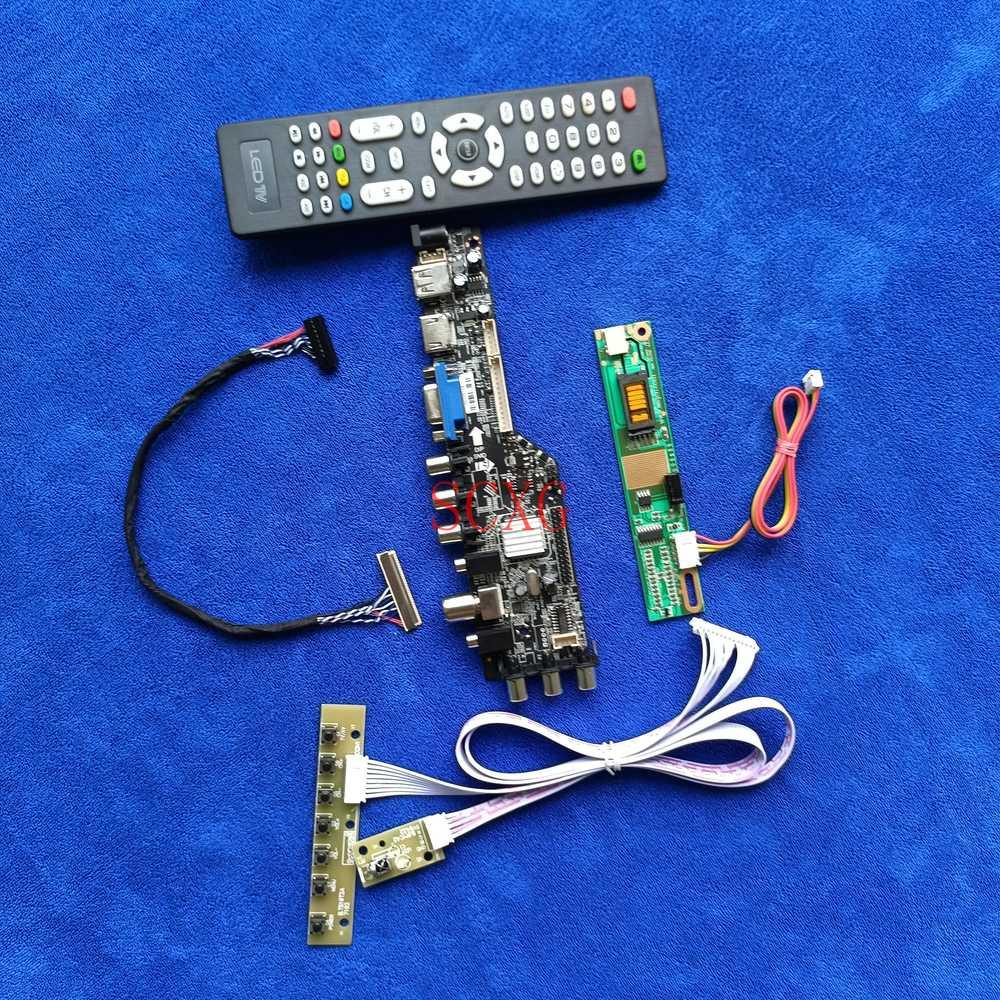 1680*1050 1CCFL AV VGA USB HDMI-متوافق مع LP171W02/LP171WE2/LP171WE3 إشارة DVB لتقوم بها بنفسك عدة 30 دبوس LVDS شاشات كريستال بلورية محرك المجلس