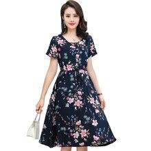20 Color summer clothes for women 2020 plus size dress women short sleeve o-neck Bohemian print flower dresses female vestidos