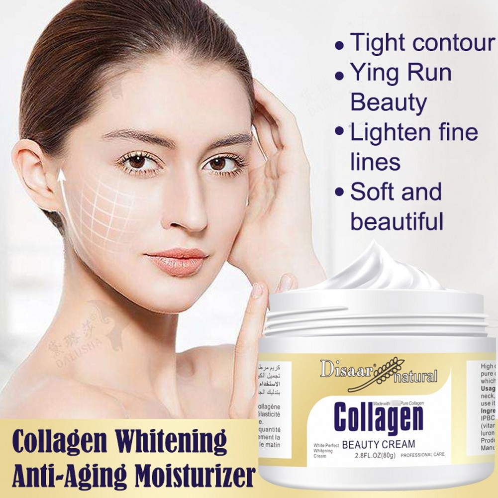 80g Collagen Power Lifting Face Cream Skin Care Whitening moisturizing Anti-aging Anti Wrinkle Facial Cream недорого
