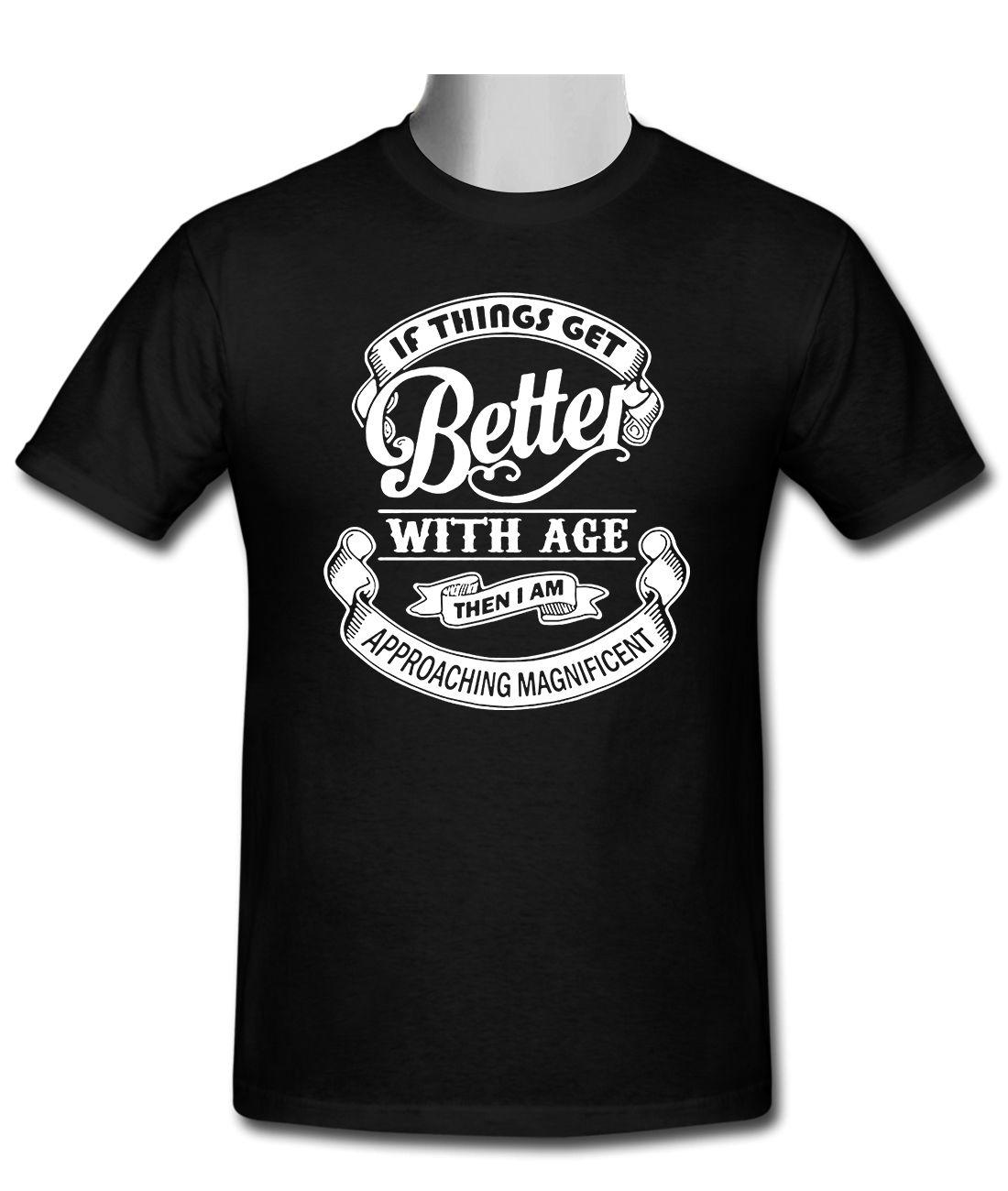 Camiseta negra para hombre If Things Get Better con tallas S-3XL, cuello redondo, mangas cortas, camisetas de algodón para hombre