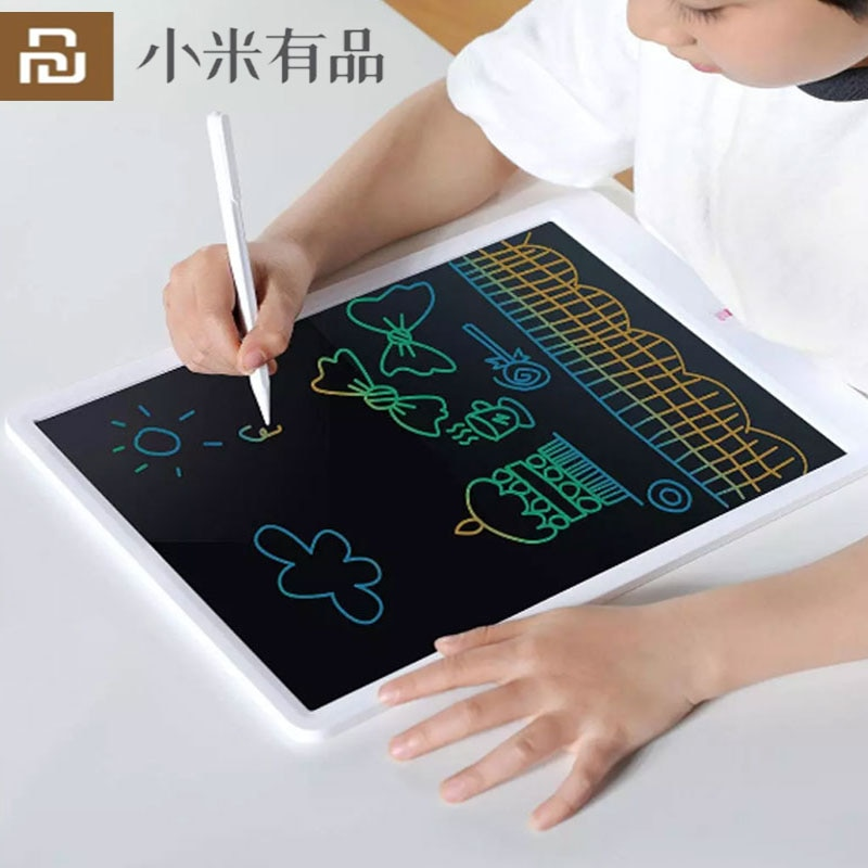 YouPin-جهاز لوحي رقمي ذكي بشاشة LCD للأطفال ، للكتابة الإلكترونية مع قلم للرسم ، وحماية العين ، وملون