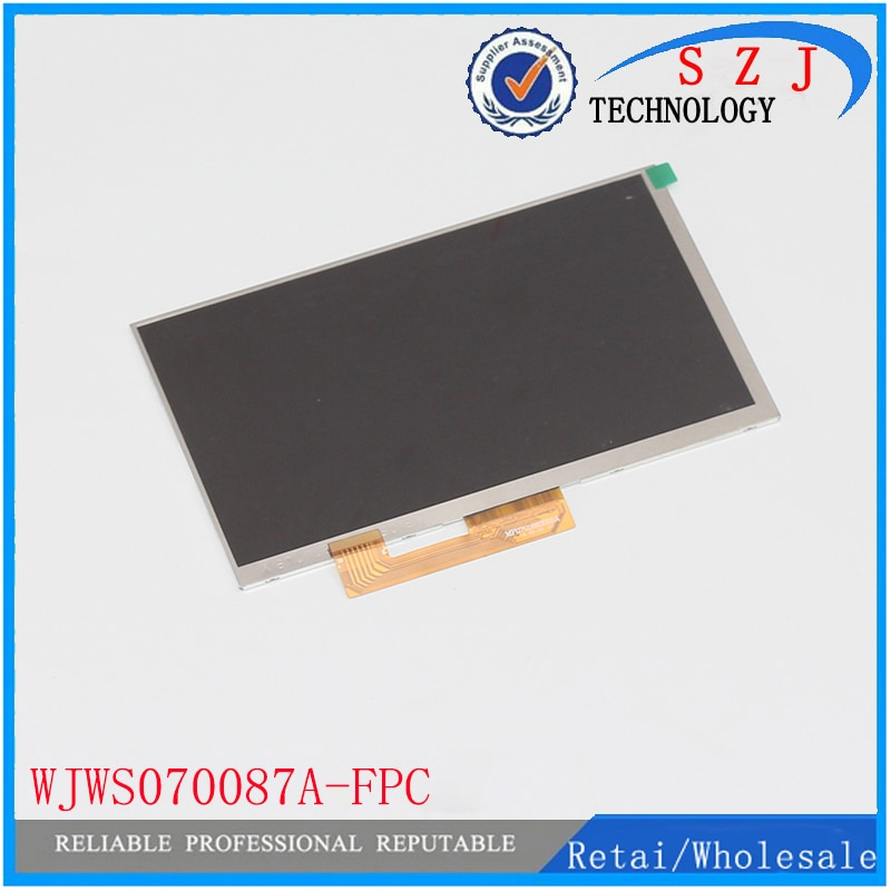 """New 7"""" inch tablet LCD display WJWS070087A WJWS070087A-FPC LCD screen Module Replacement 30 pin LWH:164*97*2.5mm Free shipping"""