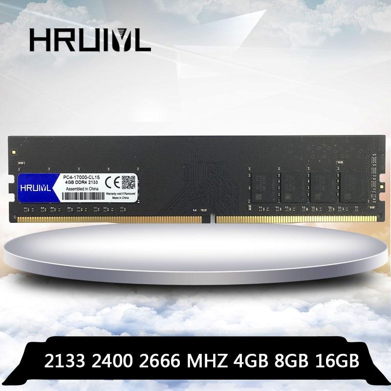 HRUIYL-ذاكرة الوصول العشوائي للكمبيوتر المكتبي ، DDR4 ، 4 جيجابايت ، 8 جيجابايت ، 16 جيجابايت ، 4 جيجابايت ، 8 جيجابايت ، 16 جيجابايت ، PC4 ، 2133 ، 2400 ، 2666 م...