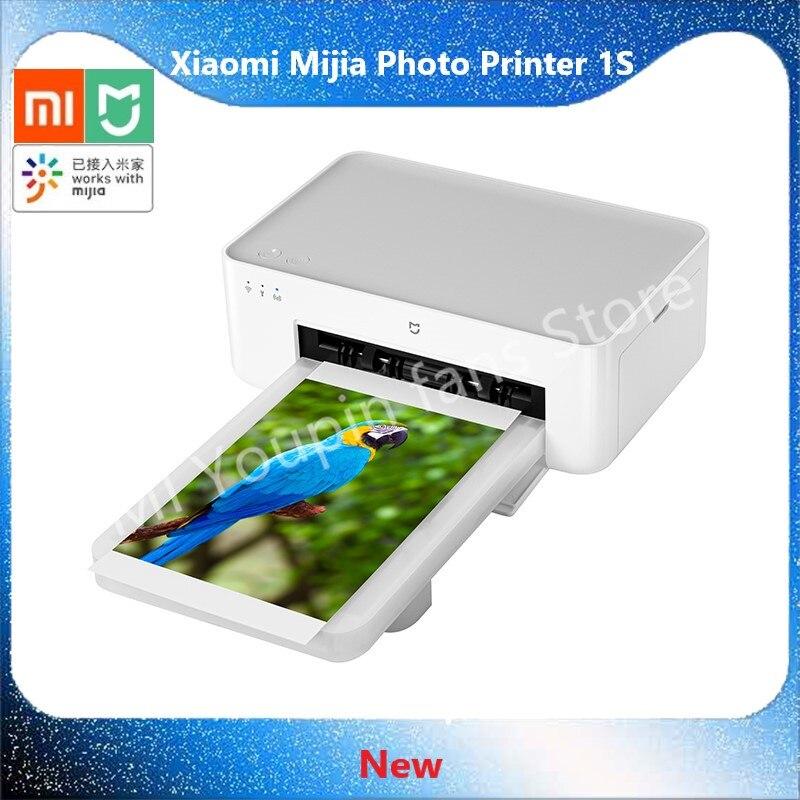 Xiaomi-طابعة الصور Mi Mijia 1S ، طباعة عالية الدقة ، ورق صور 6/3 بوصة ، محمولة ، جهاز تحكم عن بعد ذكي ، استخدام التطبيق