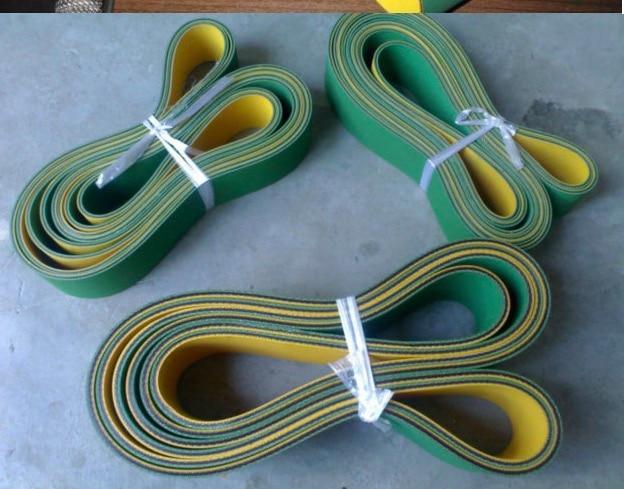(Можно заказать)-2x30x800 мм желтый зеленый приводной ремень
