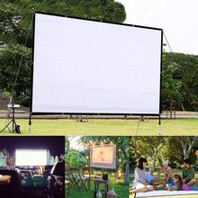 150 Inch 4:3 Portable Folding Movie Screen HD Crease-resist Indoor Outdoor Projector Screen For Home