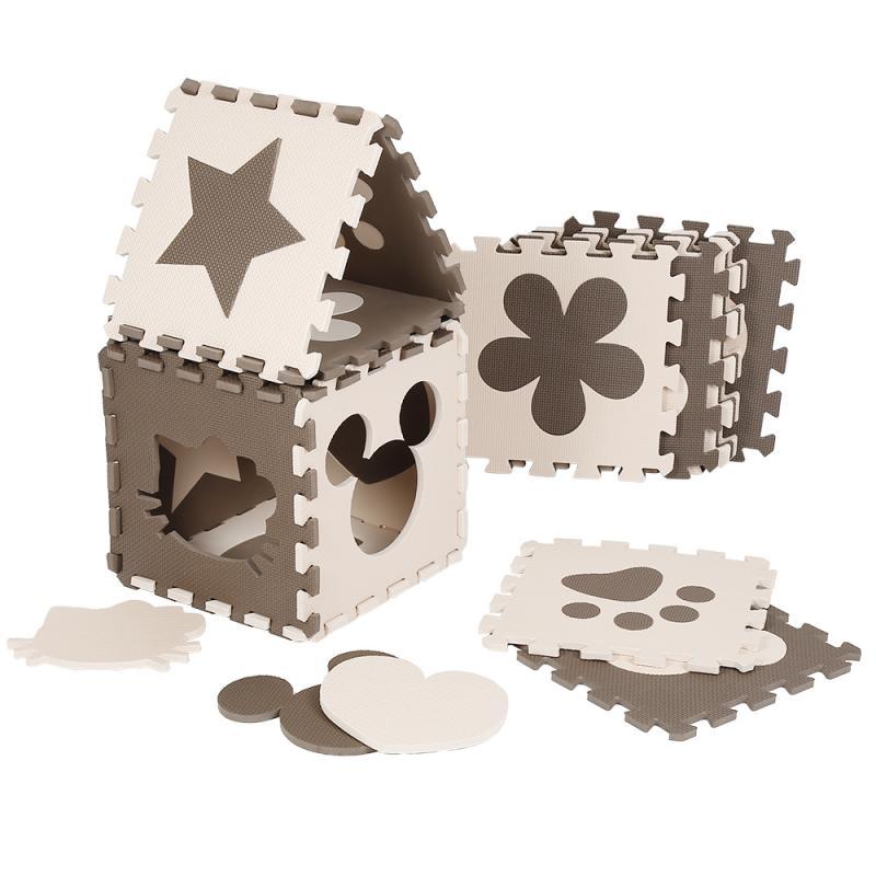 سجادة أطفال Eva قابلة للطي ، 120 × 92.5 سنتيمتر ، 12 قطعة ، أحجية ثلاثية الأبعاد ، مكعبات سحرية