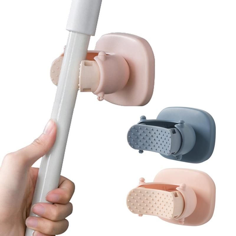 Soporte de fregona montado en la pared escoba paraguas estante impermeable cocina baño jardín herramienta de almacenamiento Clip