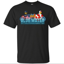 Bluewater International 2019 Logo T-Shirt Men-Women Gran Fondo August Black Men Clothes Tee Shirt