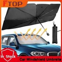 foldable car windshield sun shade umbrella for suv sedan uv cover sunshade heat insulation front window interior protection