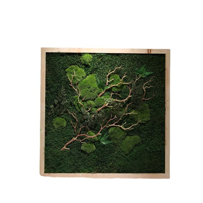 الأبدية الطحلب إطار الصورة الرسام غرفة المعيشة الديكور المناظر الطبيعية شرفة مربع الإبداعية صورة معلقة خشب متين جدارية