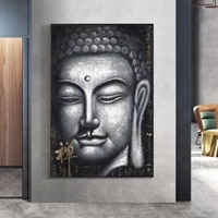 vintage sliver buddha oil paintings print on cnavas art prints chinese style buddhism canvas art prints wall pictures home decor