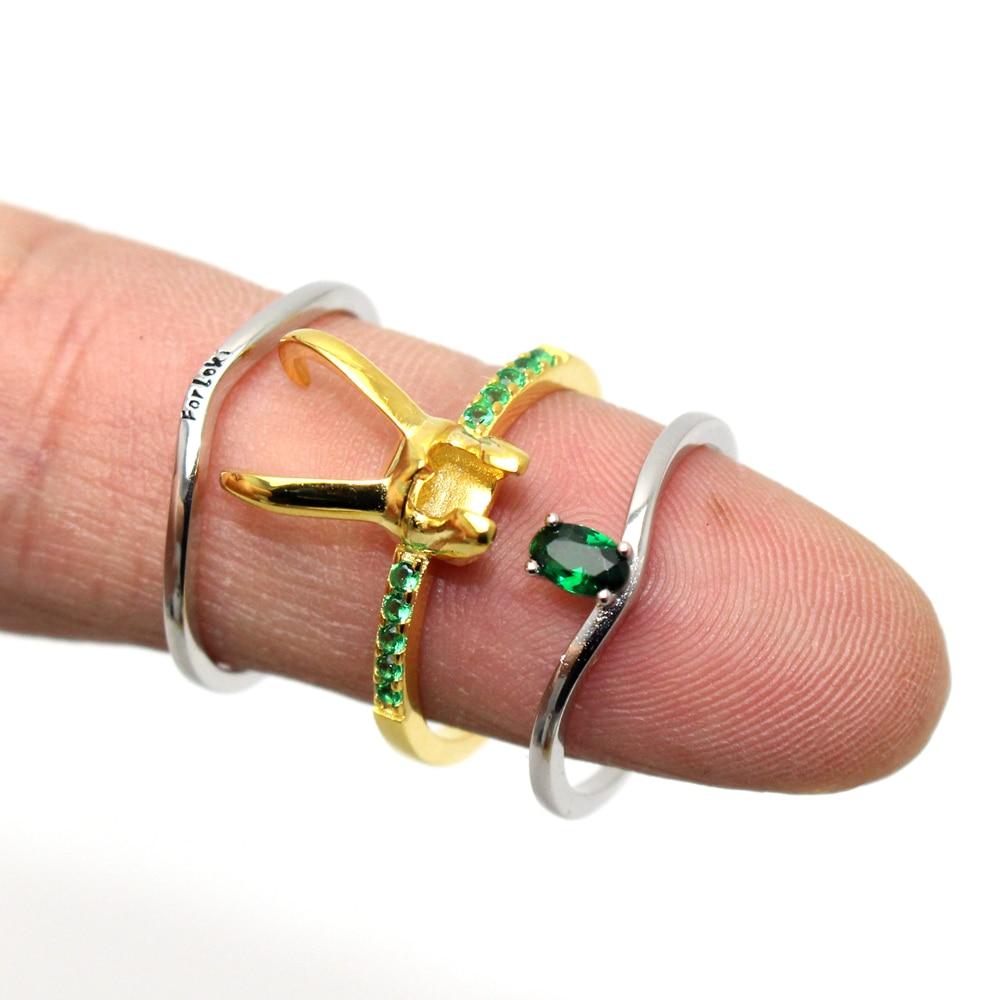 925 Sterling Silver Loki Helmet Ring Avenger Charm Superhero Jewelry Loki Ring Valentine's Day Gift Unisex US 6 7 8 9 10 11 12#