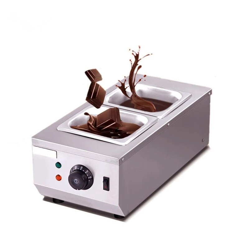الكهربائية الشوكولاته الجبن ذوبان آلة سخان التجارية مزدوجة إناء/ قدر نافورة المرجل غمس اسطوانة Melter عموم دفئا