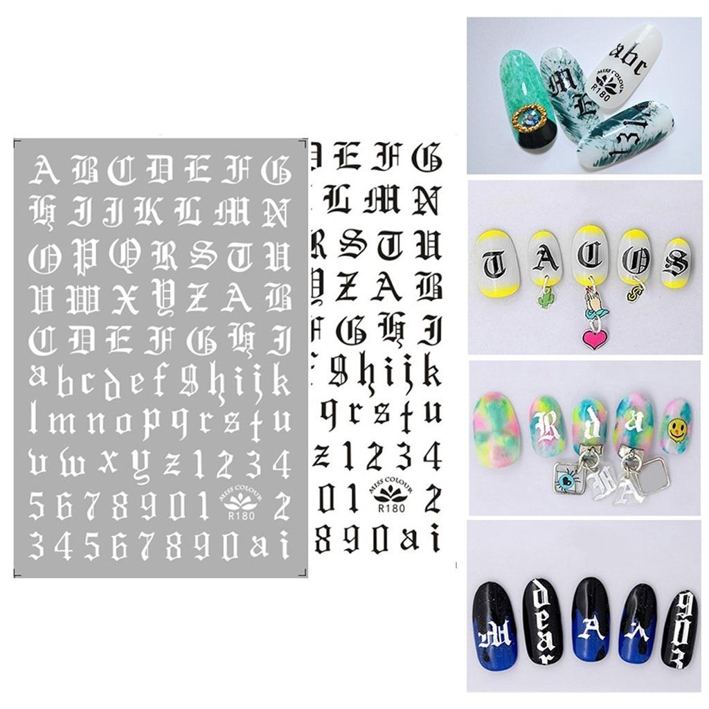 Adhesivo ultrafino negro y blanco láser oro y plata nail supplies nail stickers negro blanco combinación