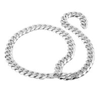 miami cuban chains men hip hop jewelry silver color thick 316l stainless steel big chunky necklace 15mm wide 28 40