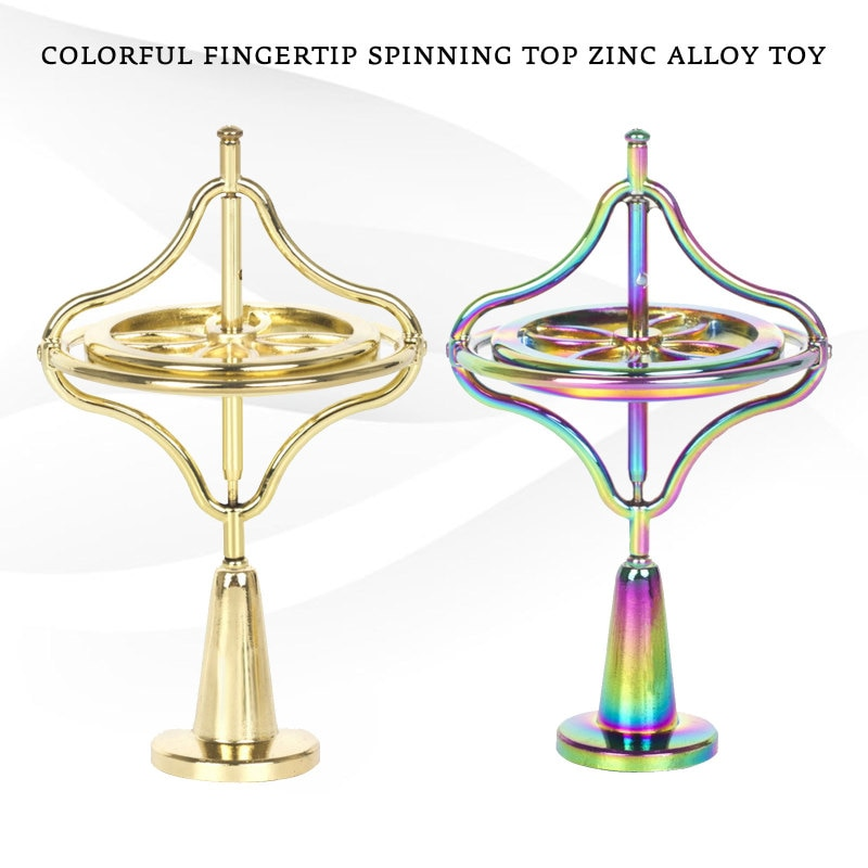 Desktop Stress Relief Gyroscop Aluminum Alloy Decompression Hypnosis Rotary Gyro Adult Fingertip Toy Kinetic Round Metal Spinner enlarge