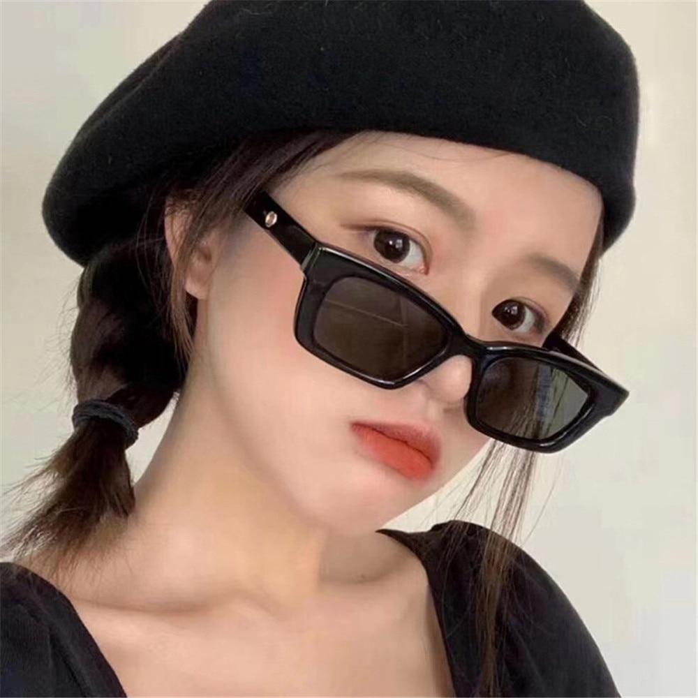 2021 New Women Rectangle Vintage Sunglasses Brand Designer Retro Points Sun Glasses Female Lady Eyeg