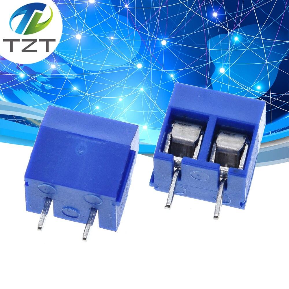 Passo do conector 5mm do bloco terminal do parafuso do pino dos pces 2 de tzt 50 5.08-301-2p 301-2p 50