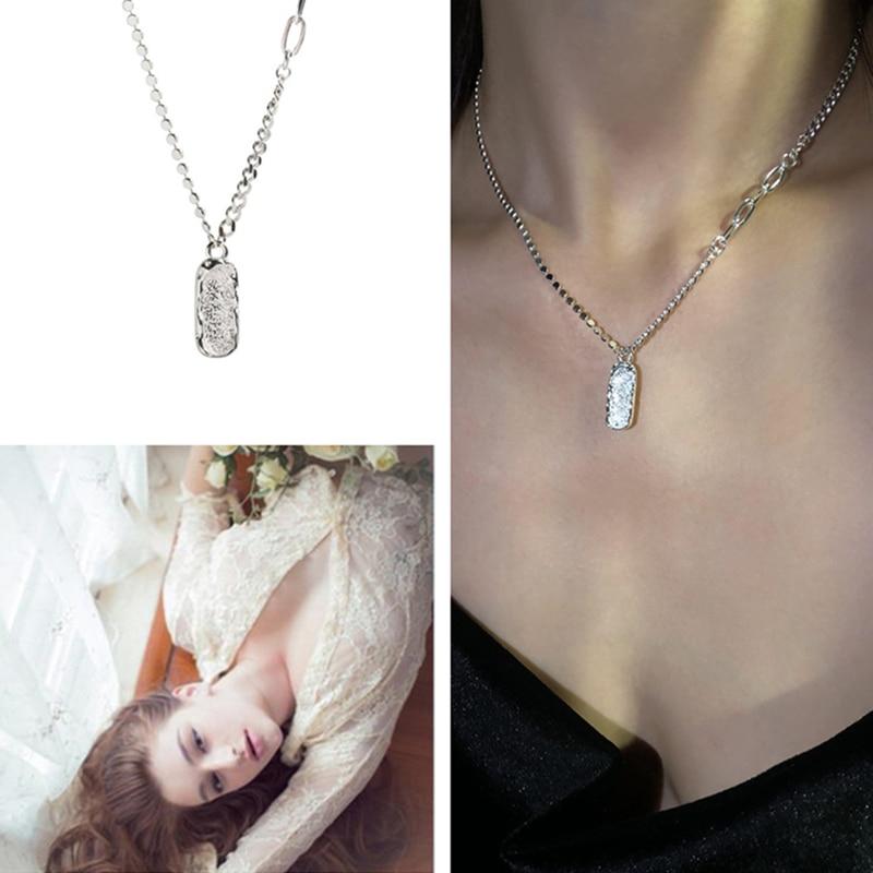 Новое-поступление-матовое-овальное-ожерелье-с-подвеской-для-женщин-ювелирные-изделия-крутая-Серебряная-цепочка-925-ожерелья-до-ключиц-Же