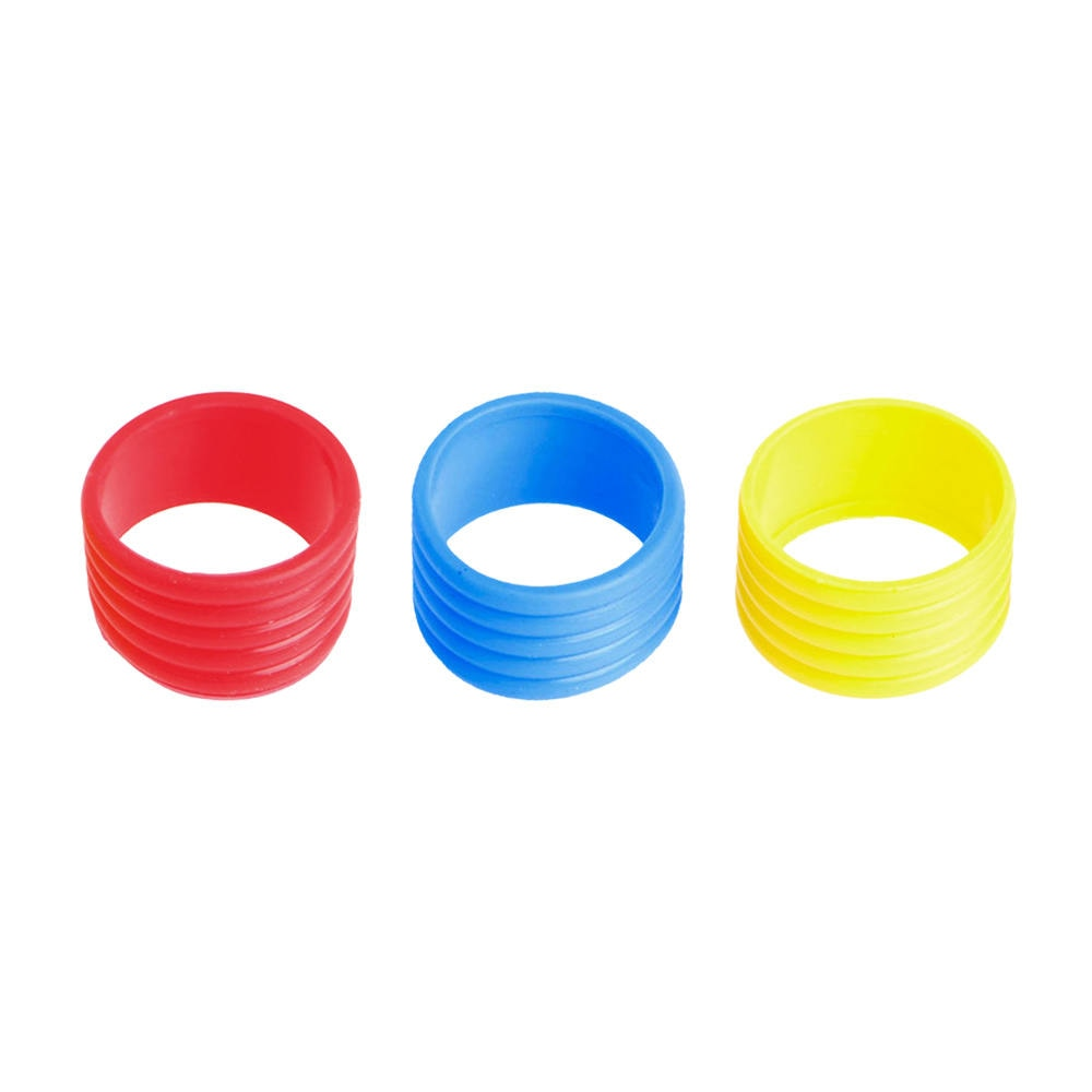 3 pçs raquete de tênis anti-deslizamento aperto anel badminton squash raquete alça