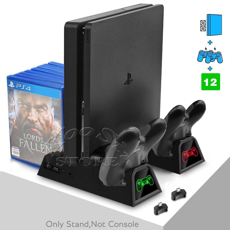 ps-4-console-slim-staffa-ps4-s-del-basamento-2-joystick-caricabatterie-2-ventola-di-raffreddamento-12-dischi-del-supporto-per-playstation-4-sottile-giochi-accessori