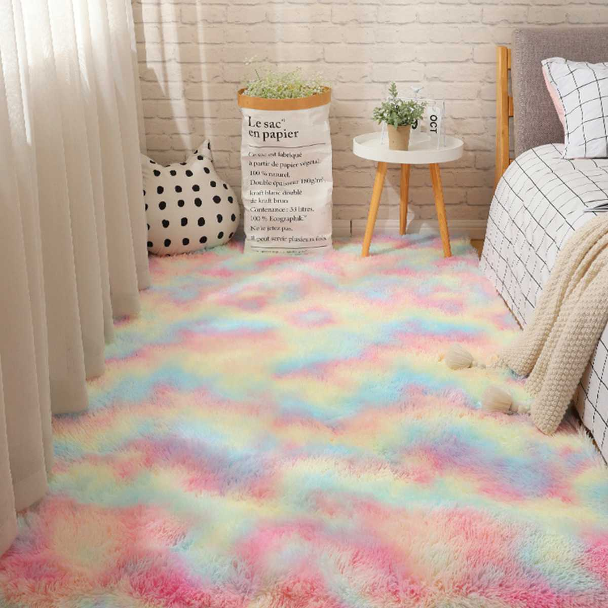 80x20 0/100x16 0/140x20 0/160x230 см радужные пушистые коврики противоскользящие лохматые ковры ковер для столовой коврик для пола домашняя спальня