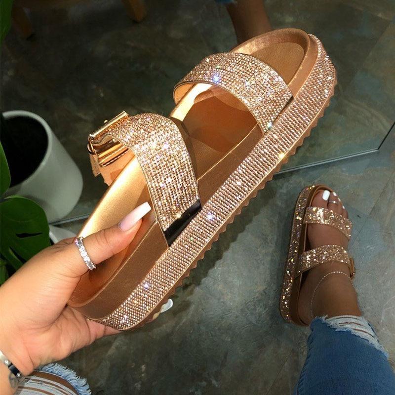 Summer Women's Shoes Gladiator Sandals Women 2021 Platform Sandals Fashion Buckle Ladies Slippers Th