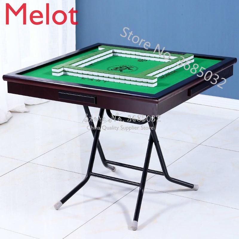 Домашний Складной Стол Для Маджонга, простой шахматный стол, интеллектуальные покерные столы, стол для игры в поле
