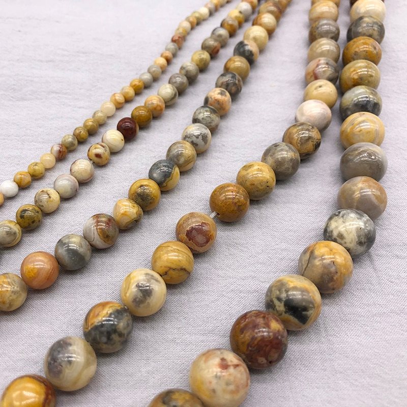 Fctory Price Natural Stone Crazy Agat Round Beads 15