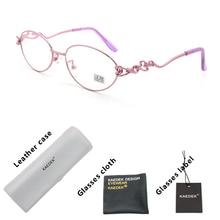 KAEDEK Women Anti-Blu-Ray computer light Reading Glasses Clear Lens 2019Presbyopic Eyeglasses Diopter Fashion design+1 1.5 2 3