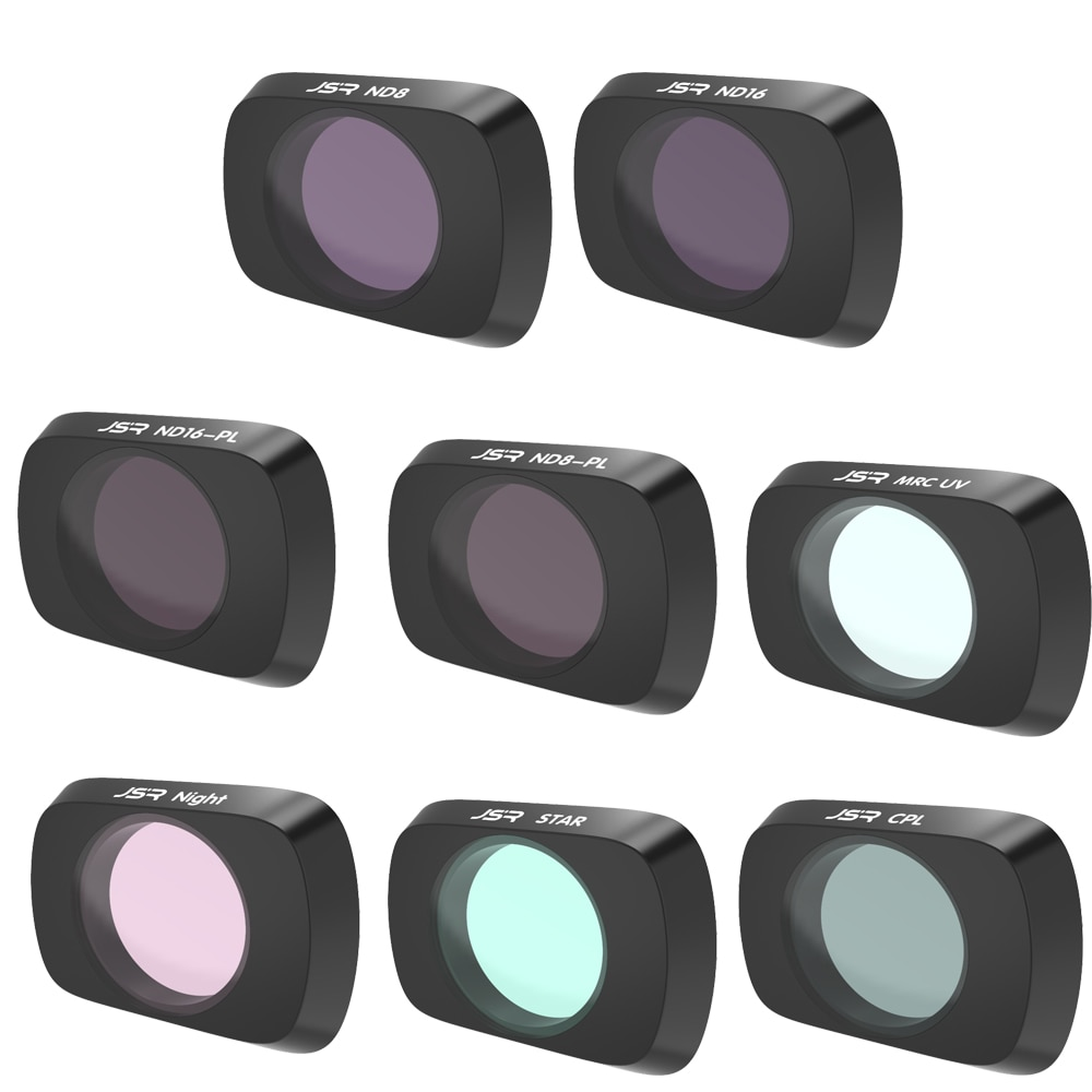 Todos los Day-8Pack ND4, ND8, ND16, CPL, ND8/PL, ND16/PL, ND32/PL, ND64/PL filtros de objetivo de cámara compatibles con DJI Mavic Air 2