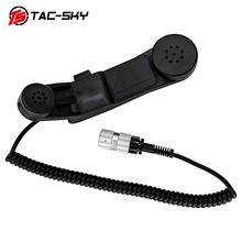 TAC-SKY H-250 PTT tactical headsetinterphone fitting 6-pin handheld speaker microphone PTT ,for AN/PRC 148152152A 6-pin H250 ptt