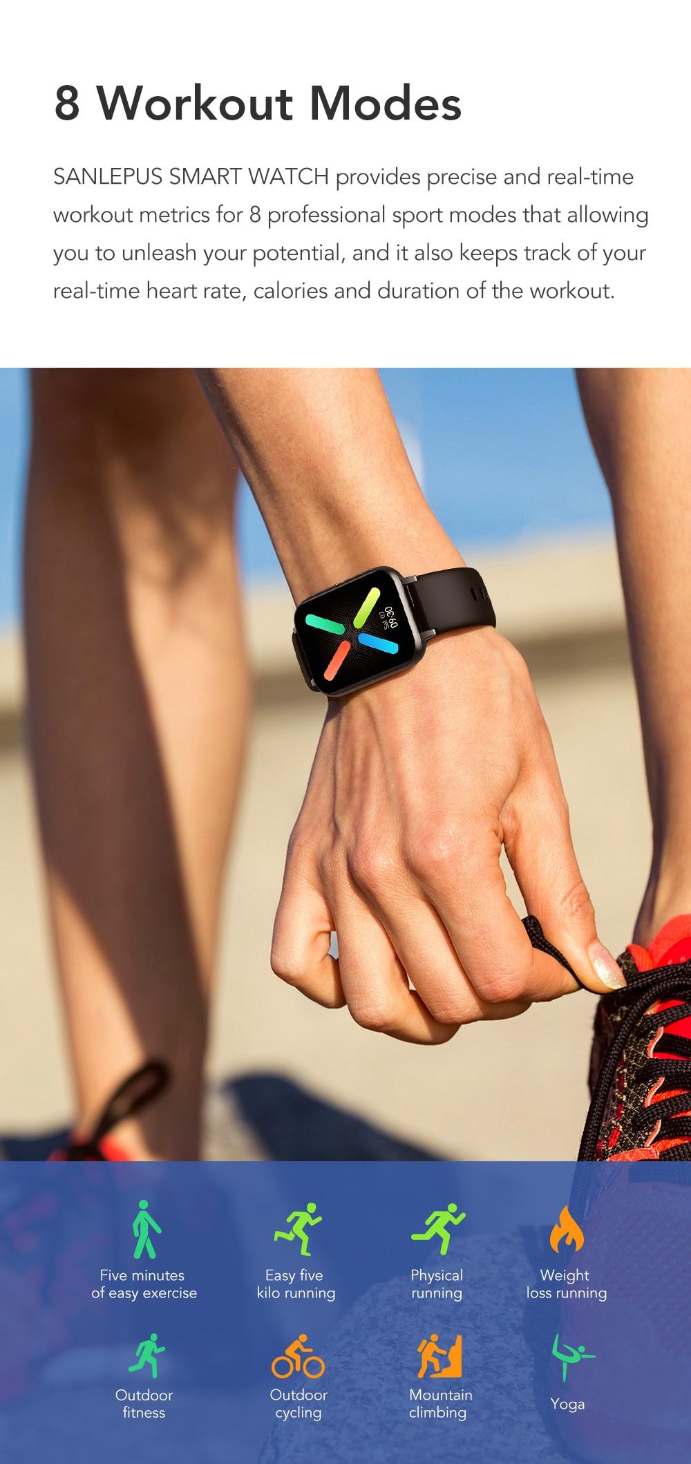 Hc91e31c76a4f4aefb0da0195c36895ccV SANLEPUS 2021 NEW Dial Calls Smart Watch Men Women Waterproof Smartwatch MP3 Player For OPPO Android Apple Xiaomi Huawei