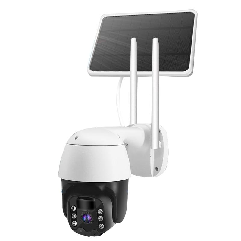 كاميرا مراقبة بالطاقة الشمسية ، 320 درجة ، رؤية ليلية عالية الدقة ، Ip67 مقاوم للماء ، اتصال Wifi ، 1080P ، لوحة شمسية