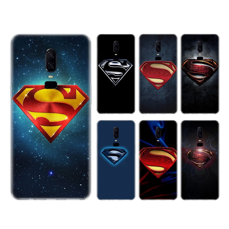 Funda trasera de silicona con Logo de Superman para teléfono OnePlus 1 + One Plus 8 7T 7 Pro 6T 6 5T 5