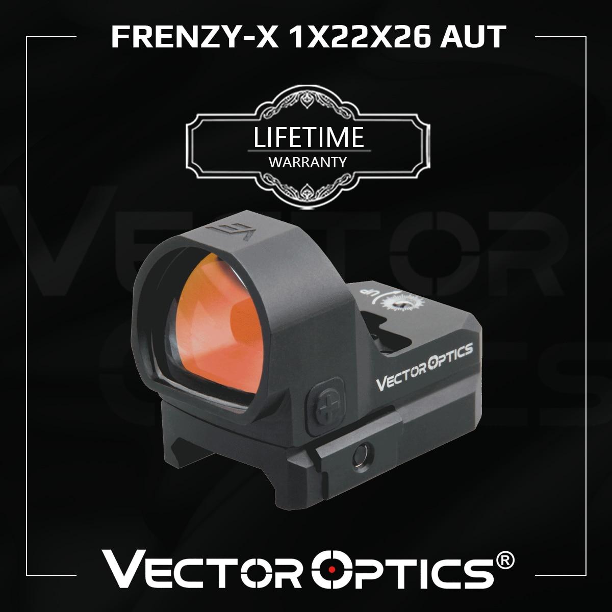 ناقلات البصريات الهيجان-X 1x22x26 أوت ريد دوت نطاق إضاءة أوتوماتيكية الاستشعار مسدس رد الفعل الصيد كوليماتور البصر ل غلوك 17 9 مللي متر