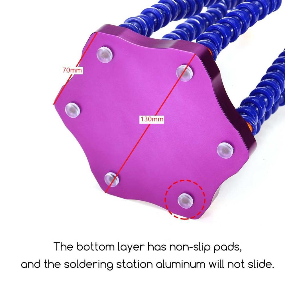 Soldering Holder Electronic Welding Magnifier Desktop 6PC Flexible Soldering Arm Solder Holder Station Repair Hand Tool enlarge