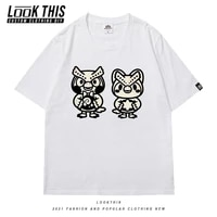 animal crossing kawaii patterned graphic t shirts unisex o neck tees summer anime oversized t shirt t shirt for men short sleeve