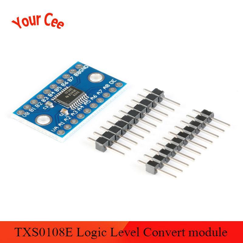 Ótimo it 3.3 v 5 v txs0108e 8 canais conversor de nível lógico converter módulo ttl bidirecional mútuo converter txs0108 txs0108epwr