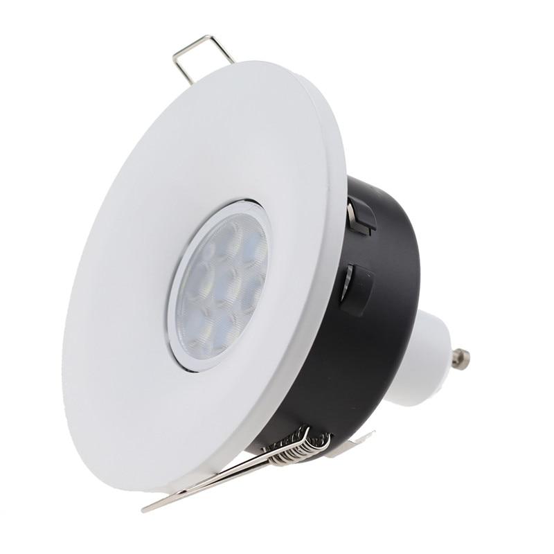 Nuevos anillos empotrados de ajuste de techo Led mr16 bombilla halógena porta accesorios led spotlight gu10 marco led down accesorio de luz